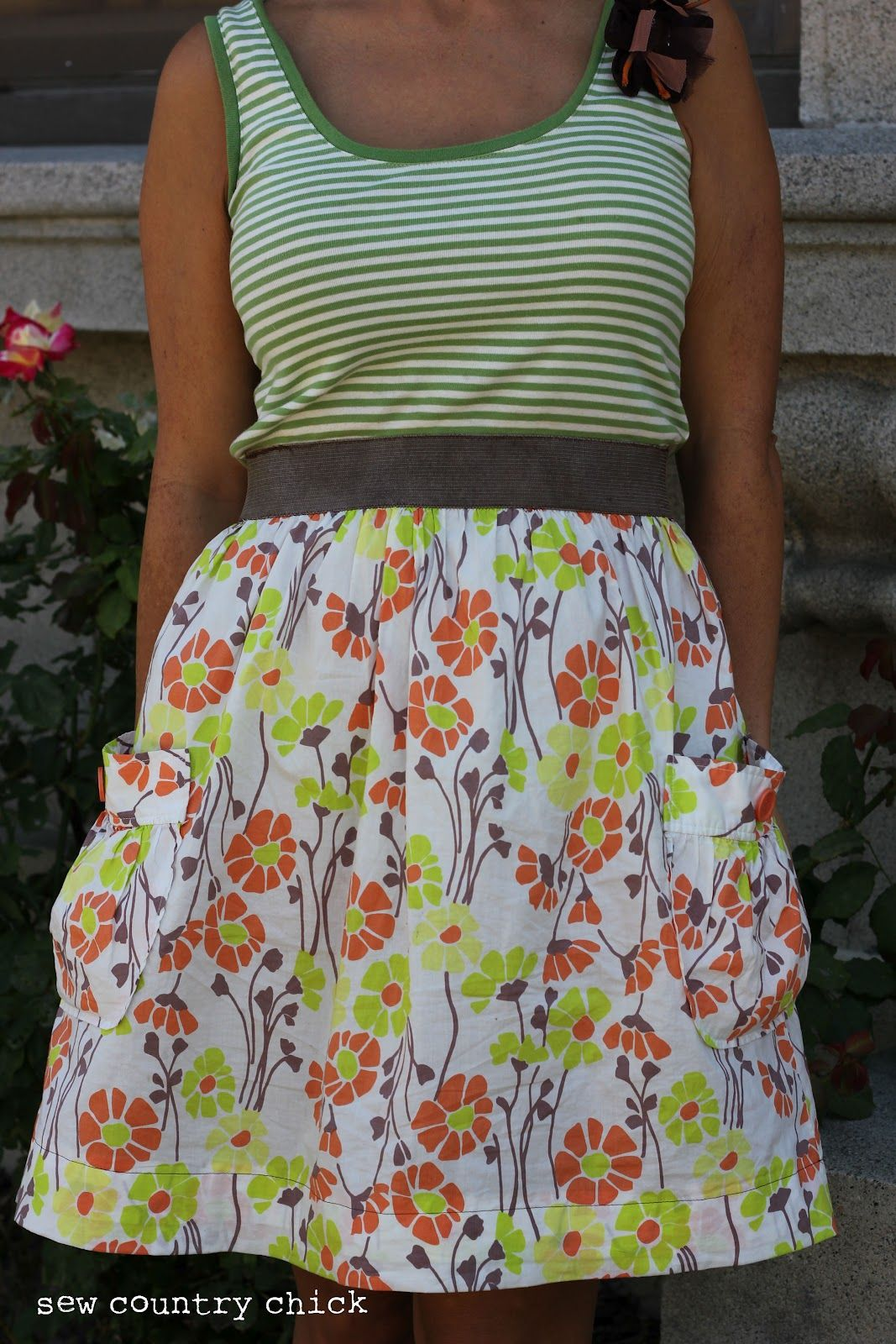 Easy tank top dress tutorial it isnt a belt it is part of the sew country chick sewing crafts and vintage style easy tank top dress tutorialsleeves and a longer skirt jeuxipadfo Gallery