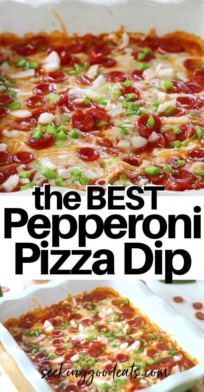 Pepperoni Pizza Dip Recipe (Keto Pizza Dip)