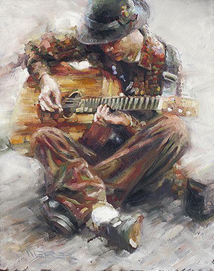 Chuck Weber Oil Guitartistique Kunstmalerei Kunst Bilder Et