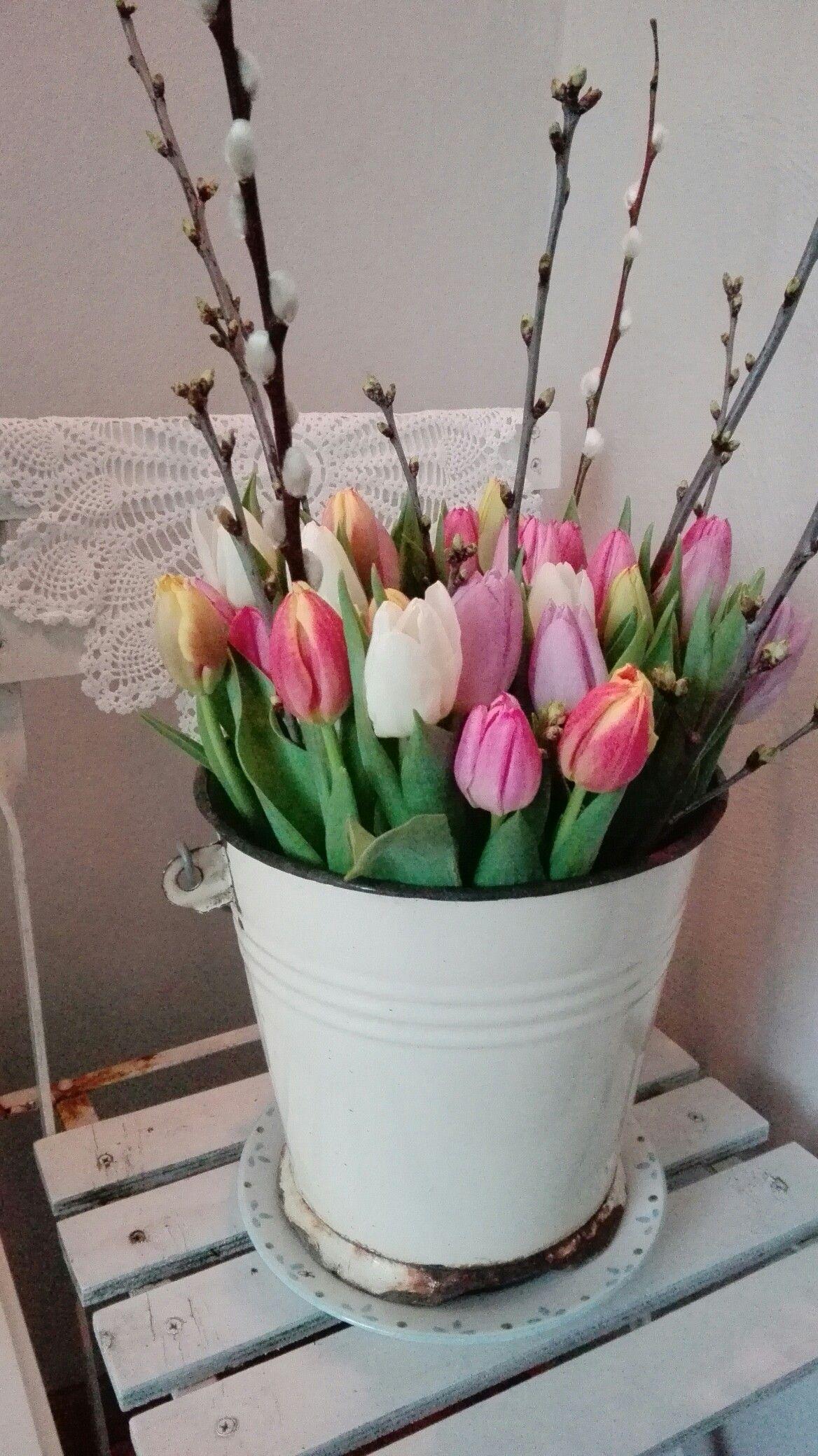 Prachtige Tulpen Dekoration Fruhlingsdeko Fruhling