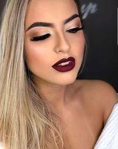 50 hübsche Make-up-Ideen mit rotem Lippenstift  50 hübsche Make-up-Ideen mit rotem Lippenstift, #Hübsche #Lippenstift #MakeupIdeen #Mit #rot