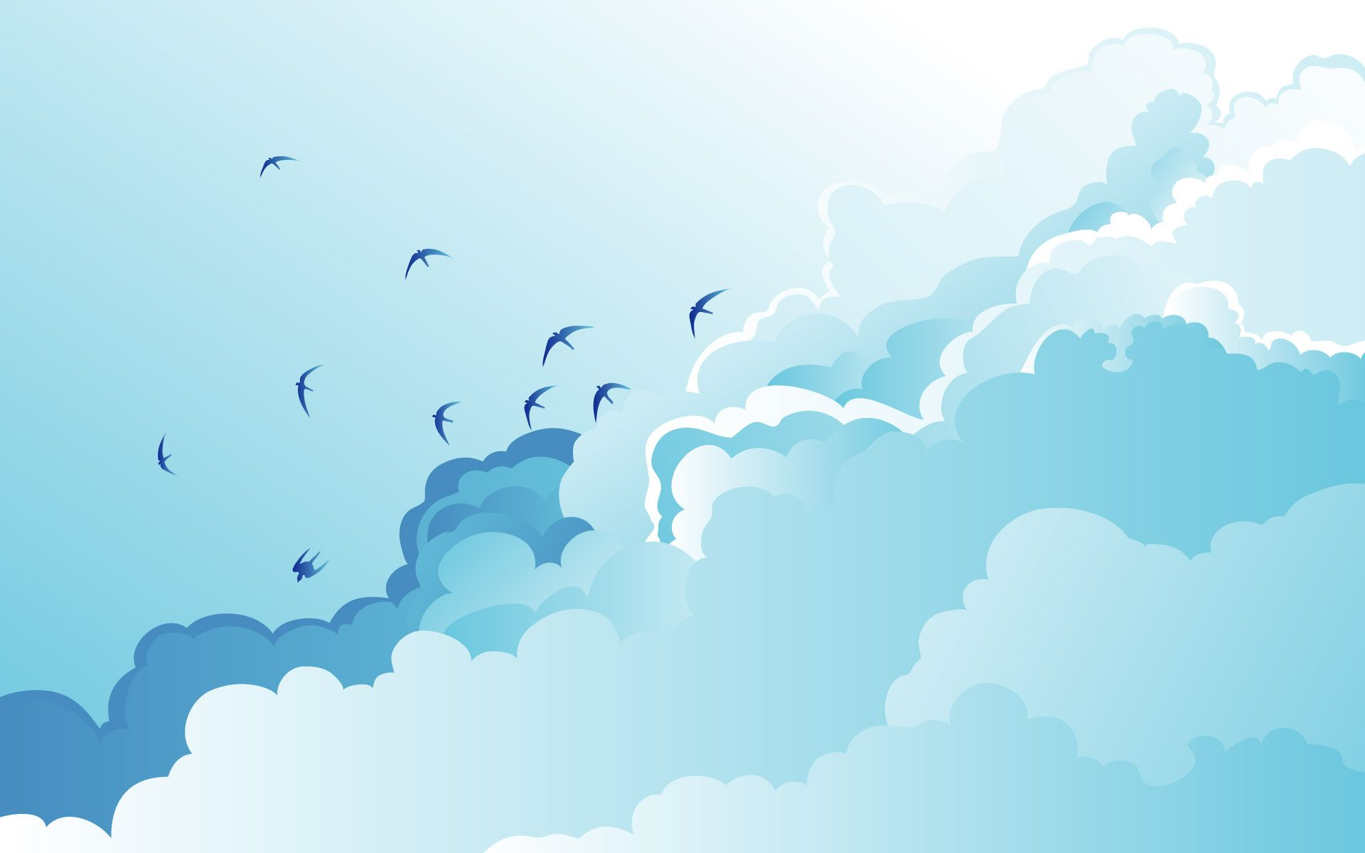 Over The Rainbow Cloudy Sky Wallpaper Blue Holden 90991 Cloud Wallpaper Blue Wallpapers Blue Clouds