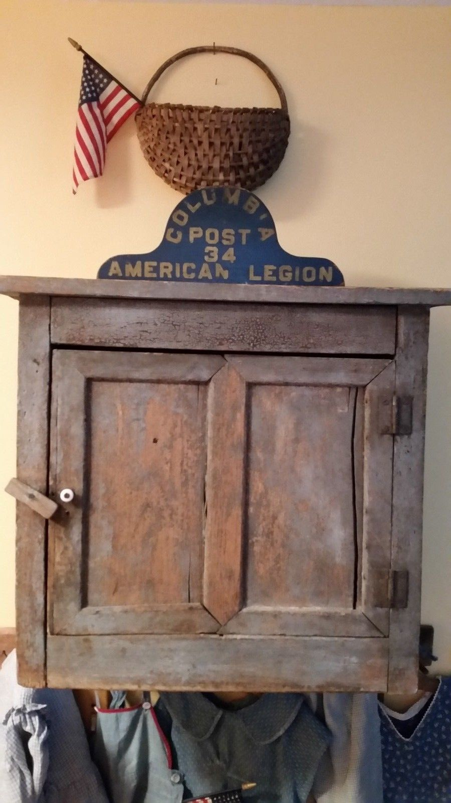 Antique Early Cupboard In Paint Ebay Still Can T Get