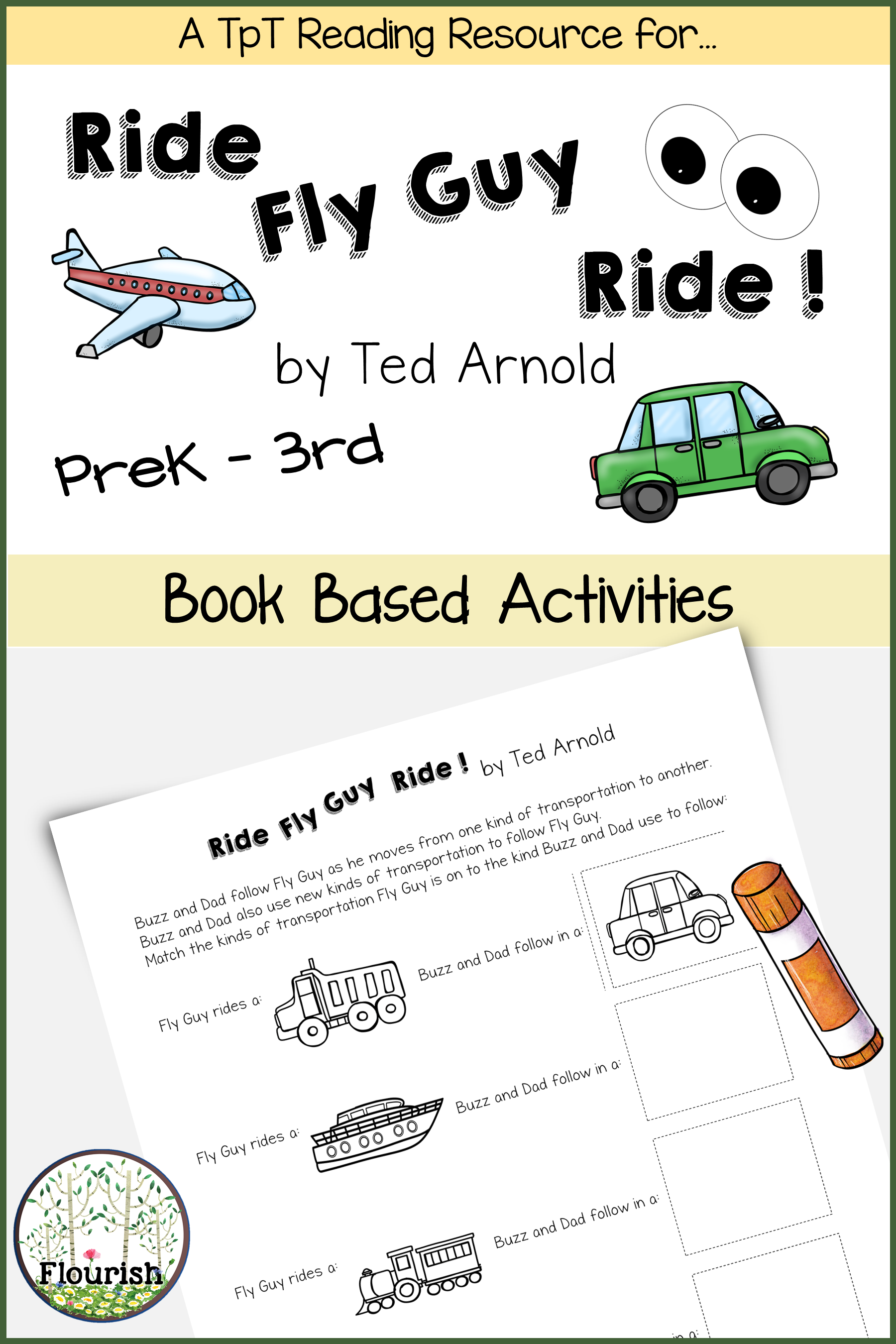 Ride Fly Guy Ride By Ted Arnold Book Club Prek 3rd