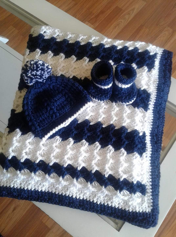 Baby Girl Blanket Crochet baby blanket WhitePink Shell Waves StrollerTravelCar seat blanket-Baby girl shower gift Baby blanket
