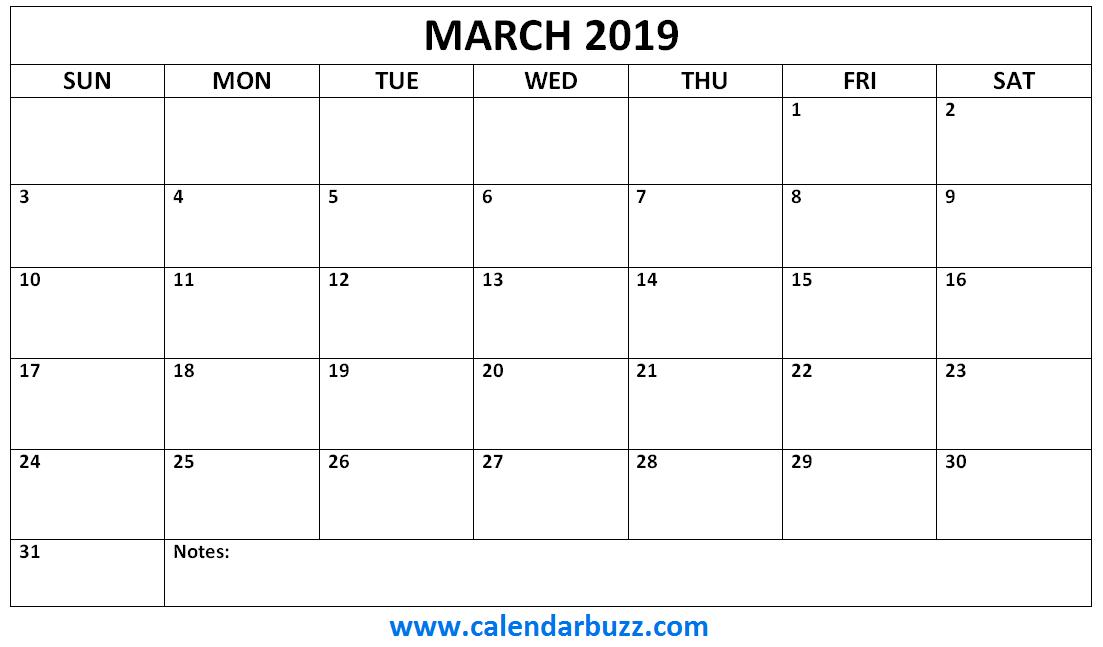 March 2019 Calendar Monthly Printable 2019 Calendars Pinterest