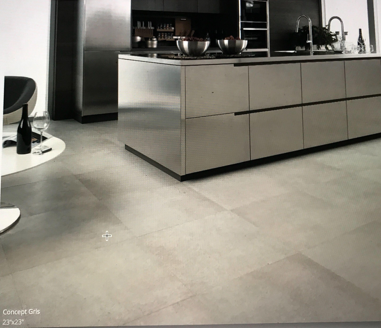 Porcelanosa Kitchen Floor Tiles: Porcelanosa Concept Gris