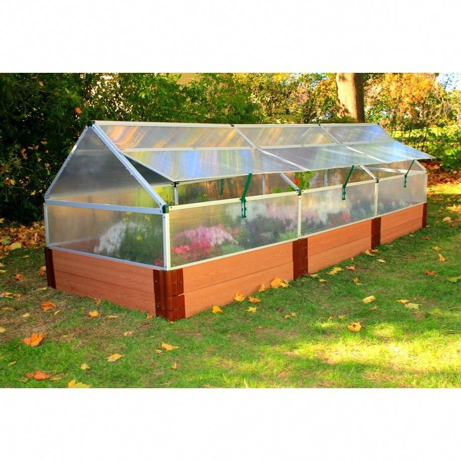 4 x 12 polycarbonate greenhouse with 12 tall composite