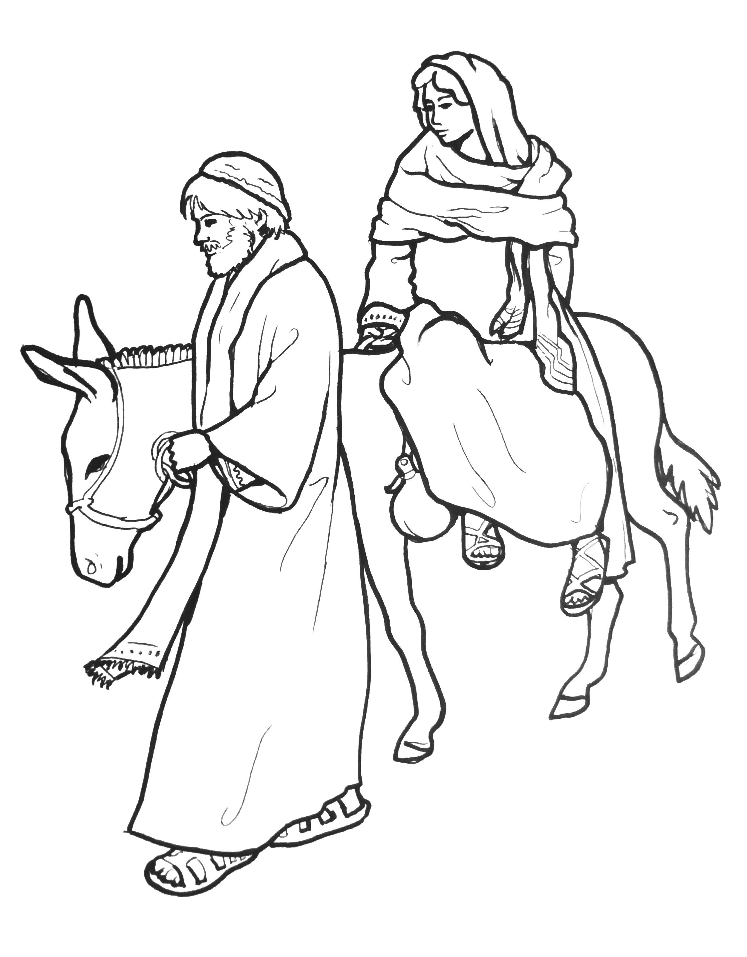 Joseph And Mary On Donkey On Their Way To Bethlehem My Own Line