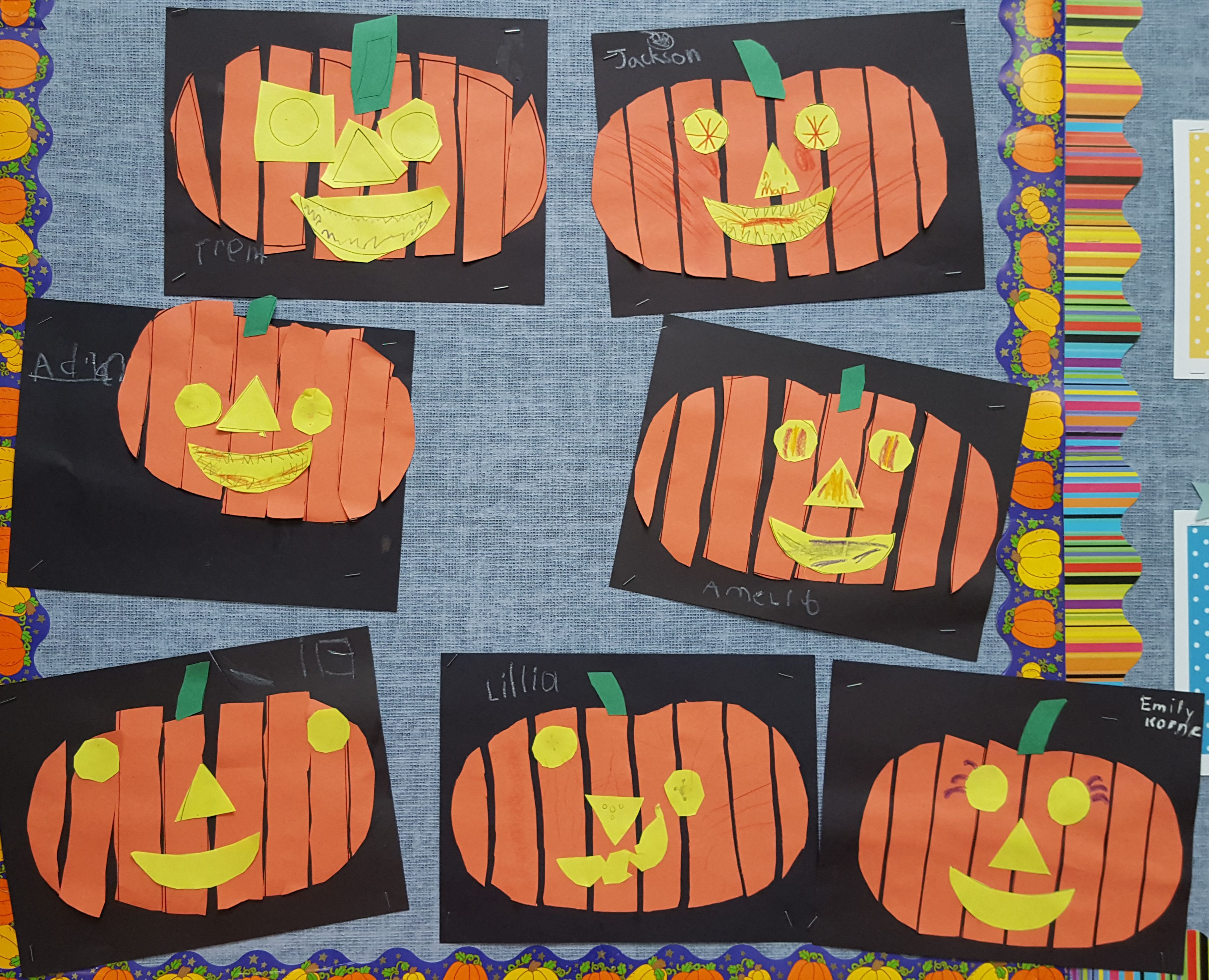 Students Completed This Jack O Lantern Activity To