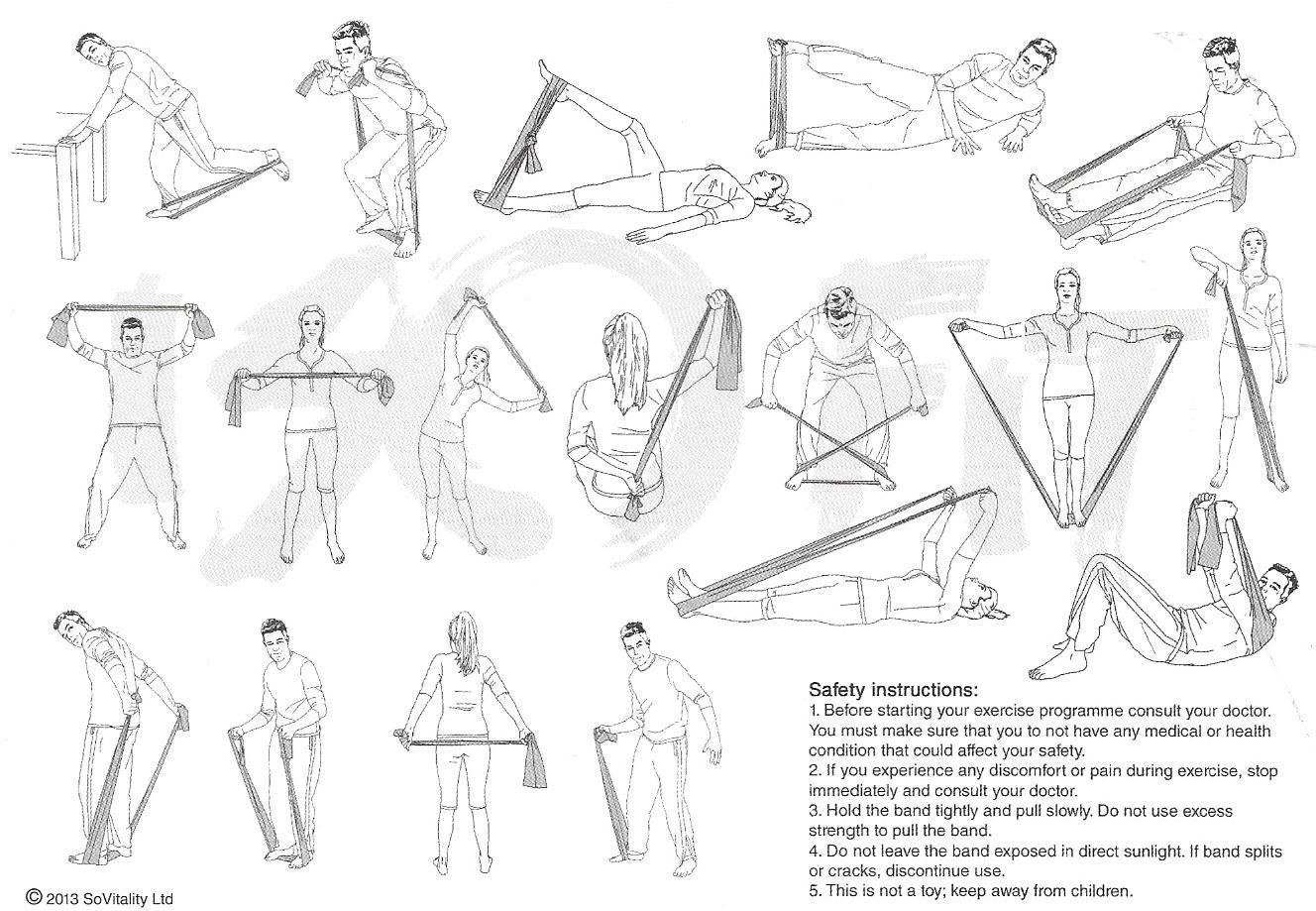 Exercices avec une bande elastique de 2 m trs de long for Elastique musculation
