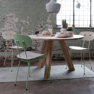 Bent dining chairs mint and white - Tristan Frencken Dutch Design