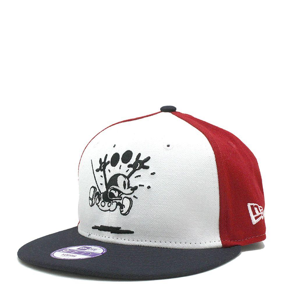 NEW ERA KIDS(ニューエラキッズ):9FIFTY DISNEY MICKEY SPR CAP オフホワイト×スカーレット の通販【ブランド子供服のミリバール】