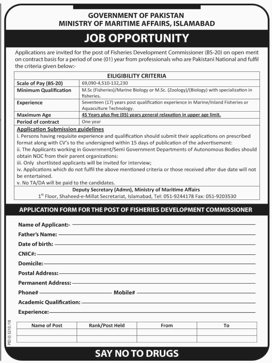 Application are invited for various posts underFisheries
