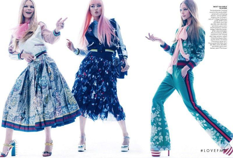 Flight Club in Vogue USA with Sasha Pivovarova,Anna Ewers,Fernanda Hin Lin Ly - Fashion Editorial | Magazines | The FMD #lovefmd