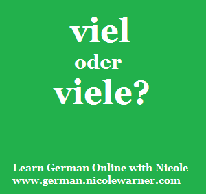 This Week S Reader Question Is Viel Oder Viele It Depends On Whether The Thing You Re Talking About Is Countable Or Not And It May Not Be T Idiomas Alemanes