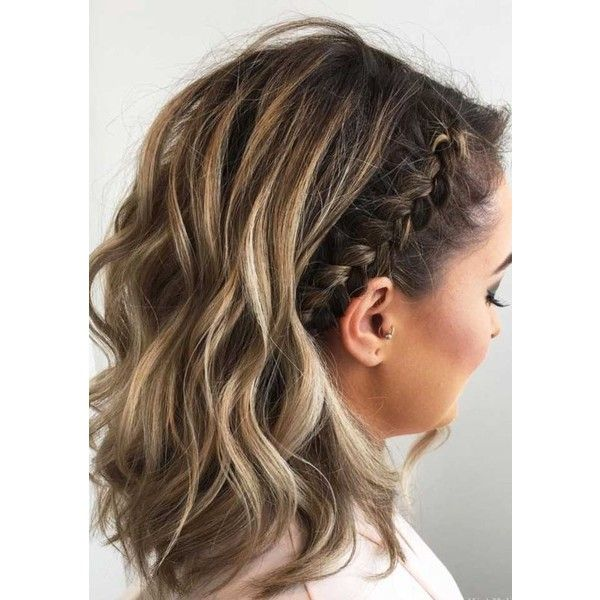 27 Cute Braided Hairstyles For Short Hair Liked On