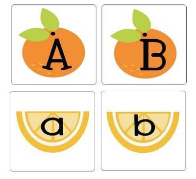 Upper- and lower-case letter matching game (This site also has lots of cute ideas for pre and K)