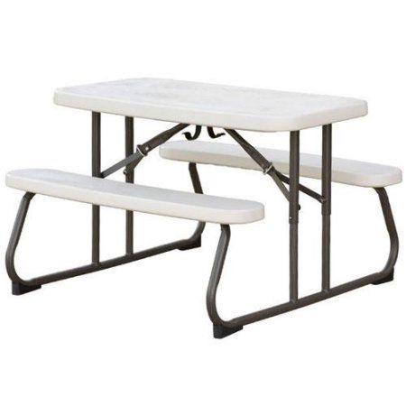 Folding Picnic Table Walmart.Lifetime Children S Picnic Table Almond In 2019