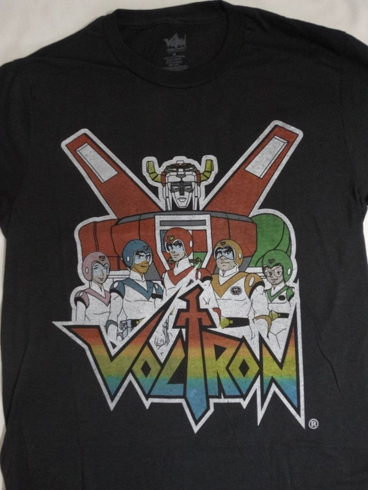 0dc3394adf6 Voltron Team Defender Of The Universe Cartoon Black T-Shirt  Marvel   GraphicTee