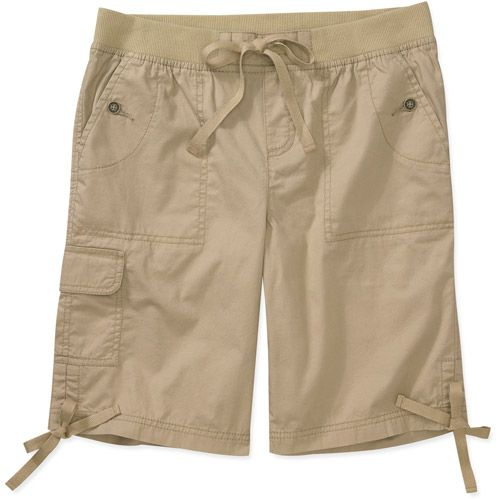 7fb73332 Faded Glory - Women's Pull On Cargo Shorts-- I bought these in the non cargo  style, so to think about it just remove the cargo pockets on the bottom.