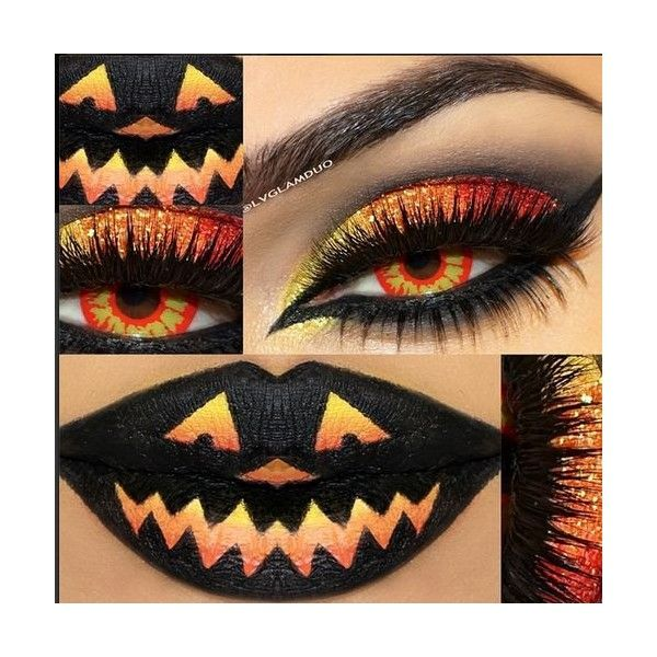15 Scary Halloween Zombie Eye Make Up Looks Ideas For Girls 2014 ❤ liked on Polyvore featuring makeup