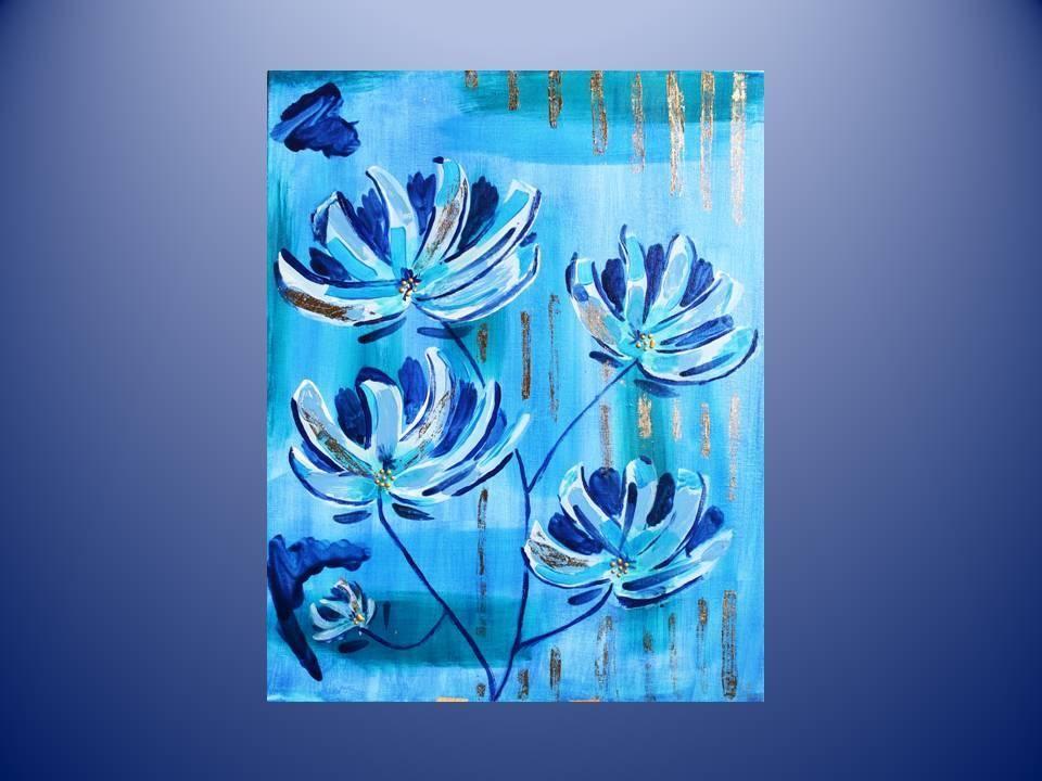 Fleurs d'Hiver - Pittura in Acrilico su tela 40x50  http://ilmondodifam.wix.com/famou