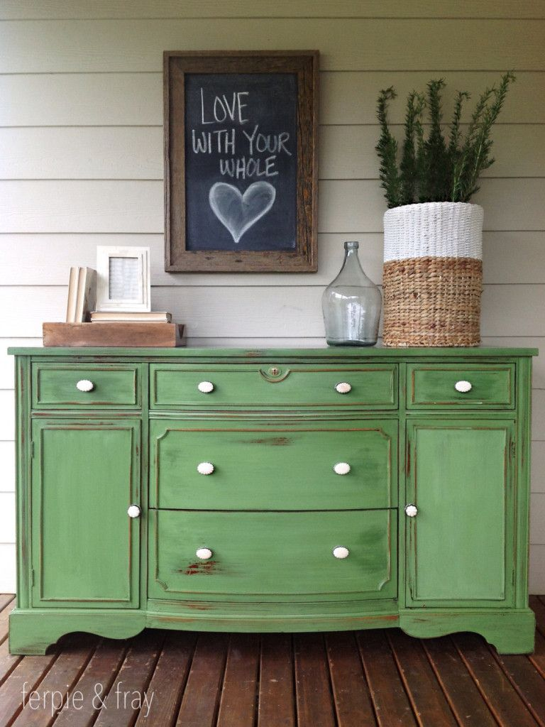 Chalk Painted Furniture By Color Series Green