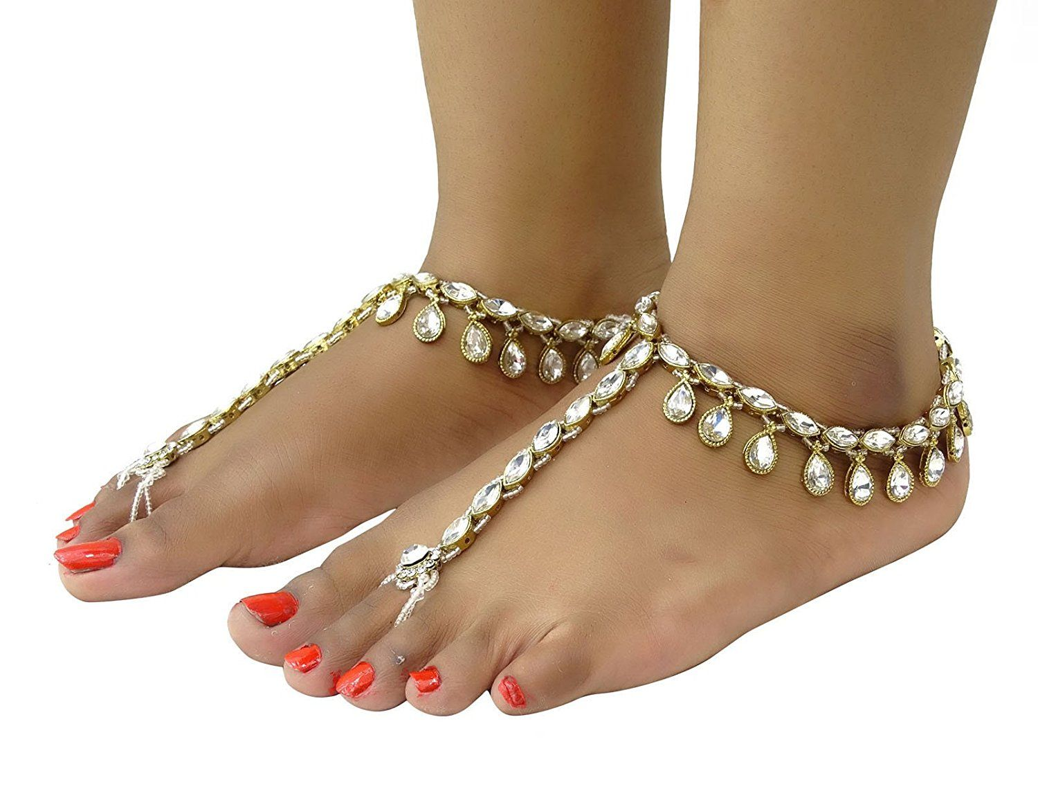 anklet ethnic indian designer jewe ankle bollywood jewelry pin bracelets payal ebay traditional