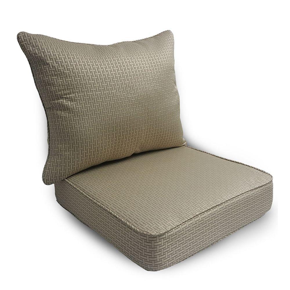 Shop Suntastic 1000 O Rattan Linen 2 Piece Deep Seating Chair