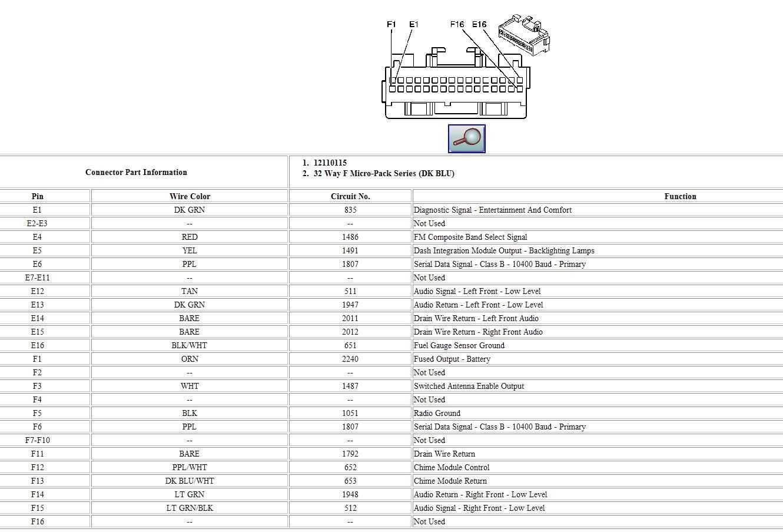 2011 Silverado 1500 Stereo Wiring Diagram