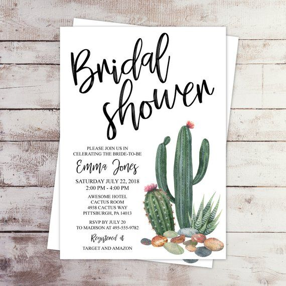 253a47d5a8eb This 5x7 watercolor cactus invitation will create a beautiful and trendy  vibe for your event. Desert Succulent and Cactus Bridal Shower Invitation  Digital ...