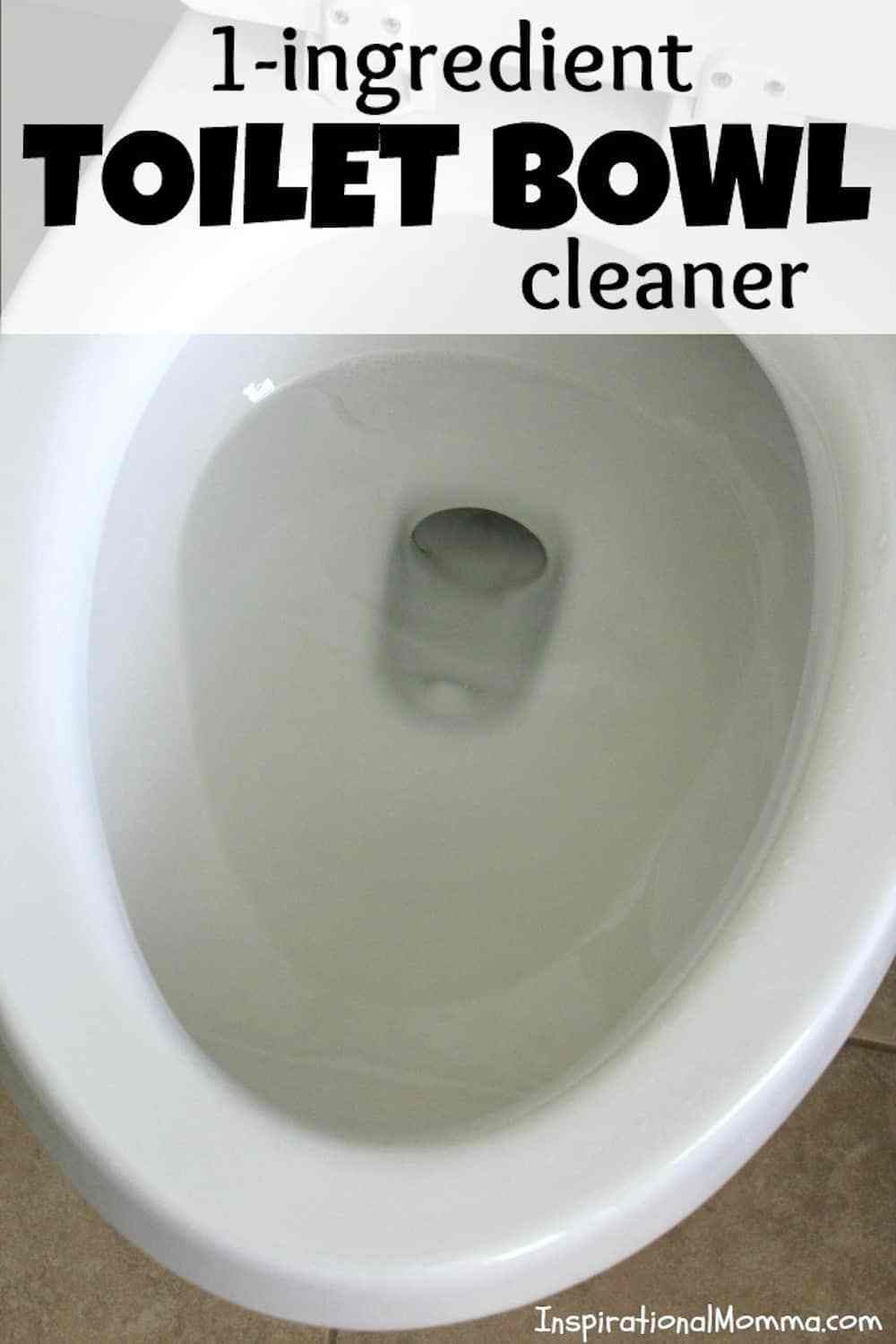 1 Ingredient Toilet Bowl Cleaner Toilet Bowl Clean Toilet Bowl