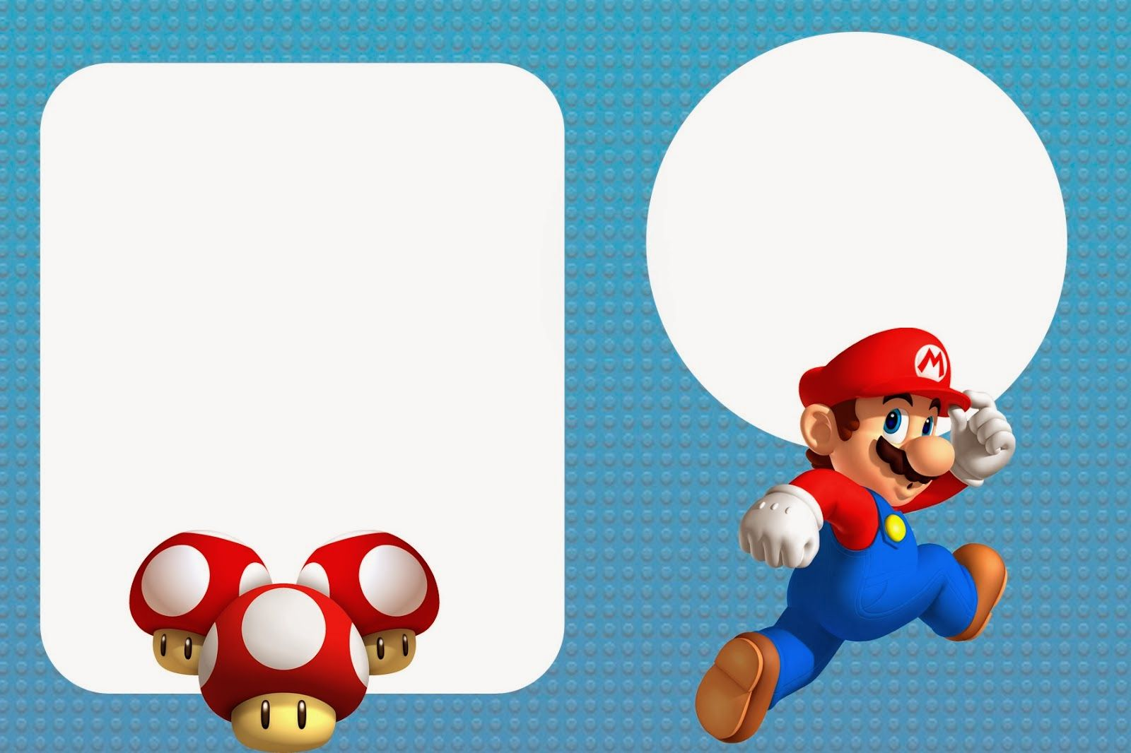 Super Mario Bros Free Party Printables and Invitations. | Girls 7th ...