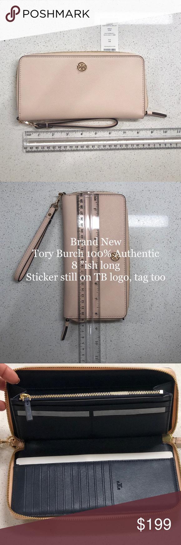 NEW Tory Burch Passport Case Wristlet Clutch Purse Purple