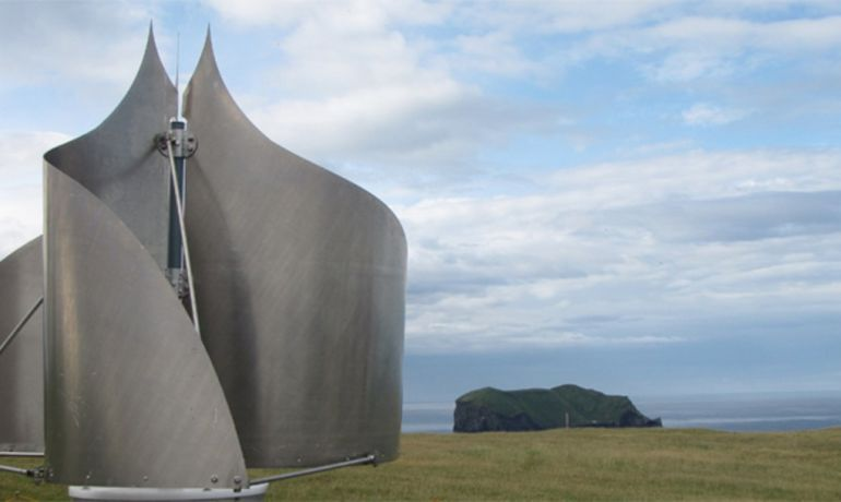 Icelandic Inventor Designs Uniquely-Shaped Wind Turbine That Can Withstand The Strongest Of Gales