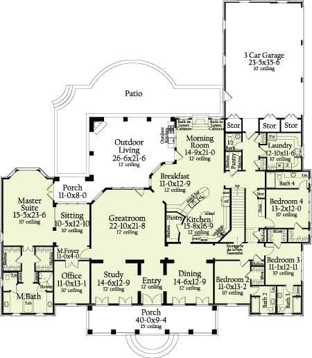 Plan 62118v House Plans Bedroom House Plans House Floor Plans