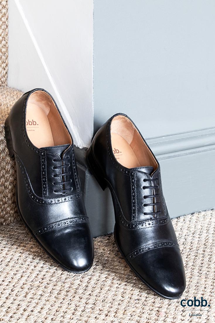 3. brogue | Black leather shoes men