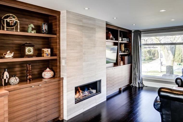 Moderner Kamin für das Wohnzimmer - beeindruckende und gemütliche