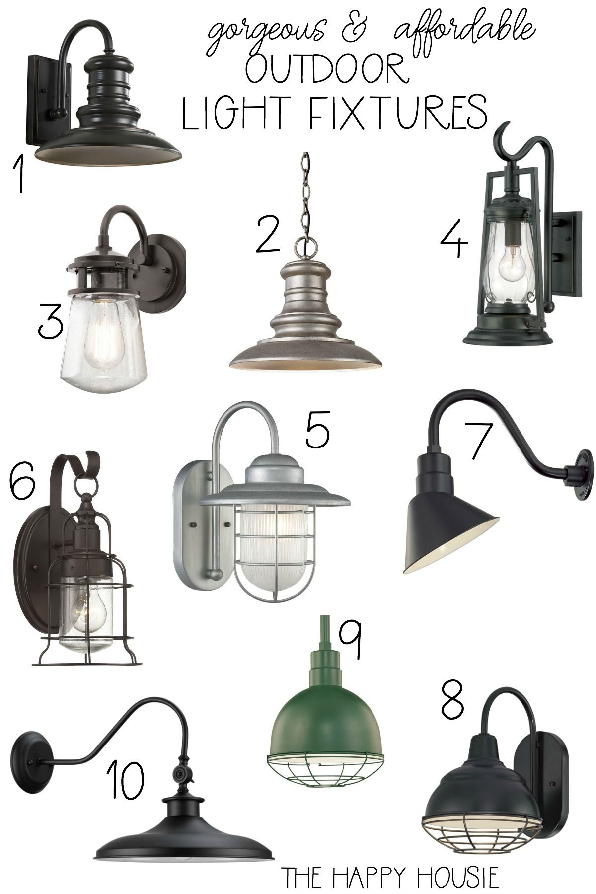 Affordable Coastal Outdoor Lighting Update Exterior