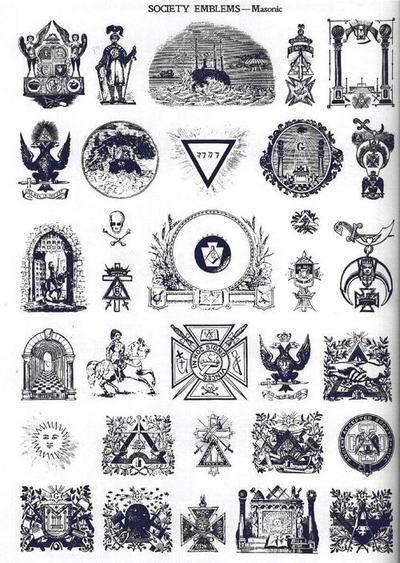 Emblmes De Socites Franc Maonnes Masonsshrinersdemolay