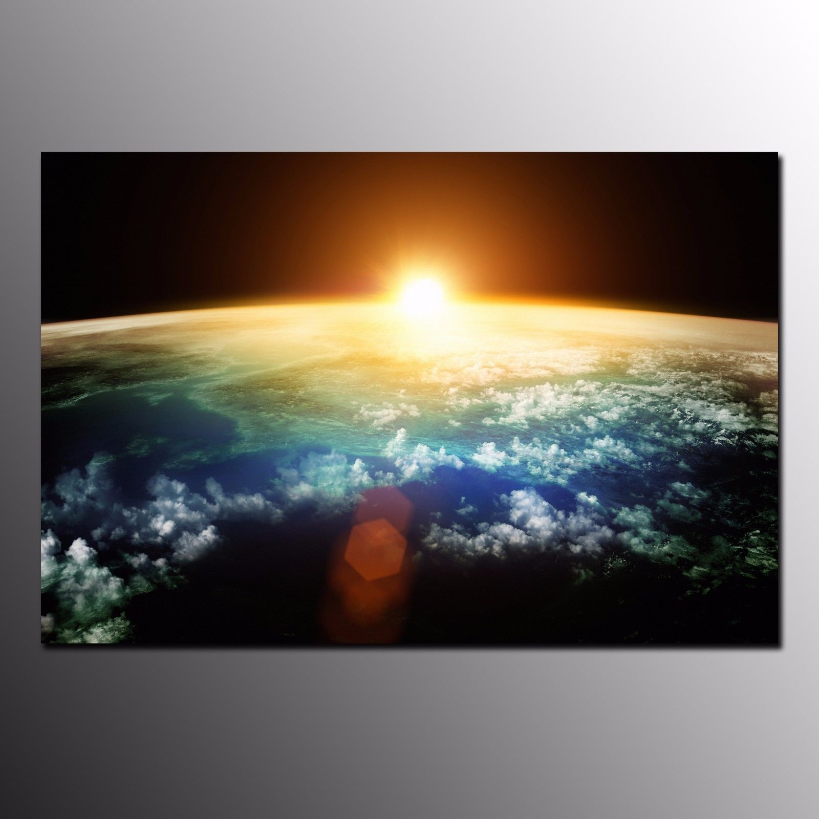 Canvas Print For Living Room Sunrise In Space Wall Art