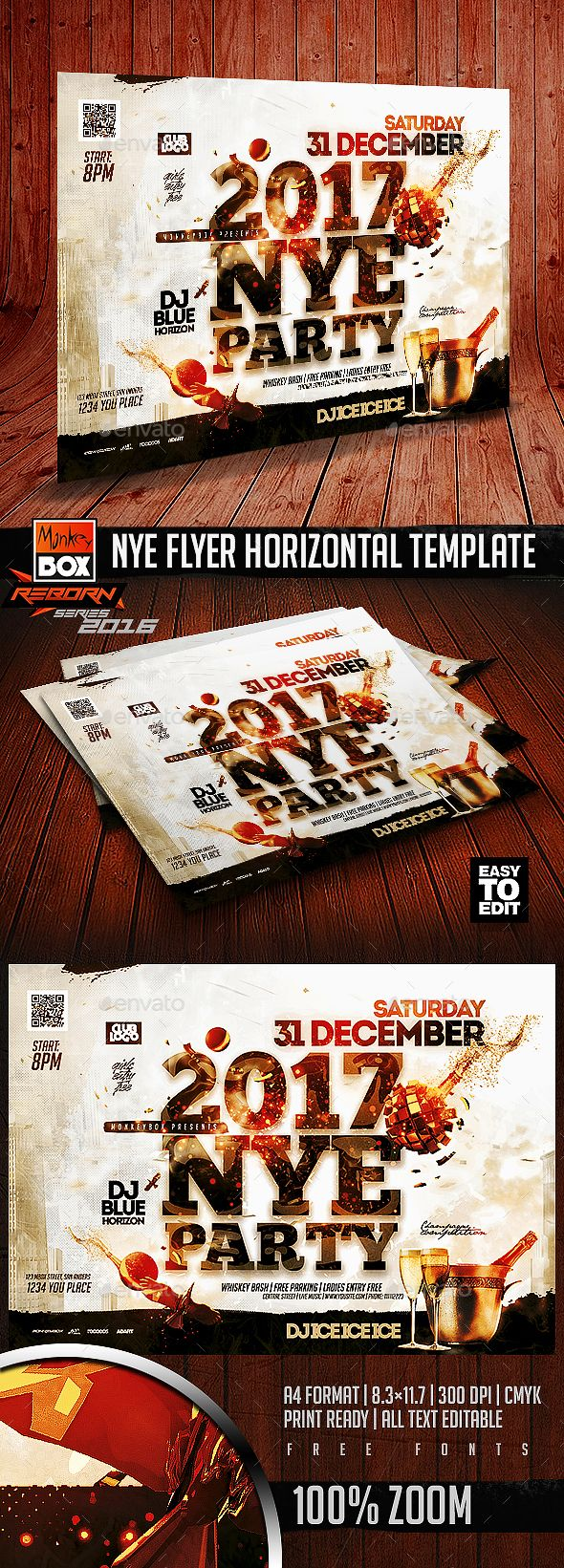 Nye Flyer Horizontal Template  Nye Template And Photoshop
