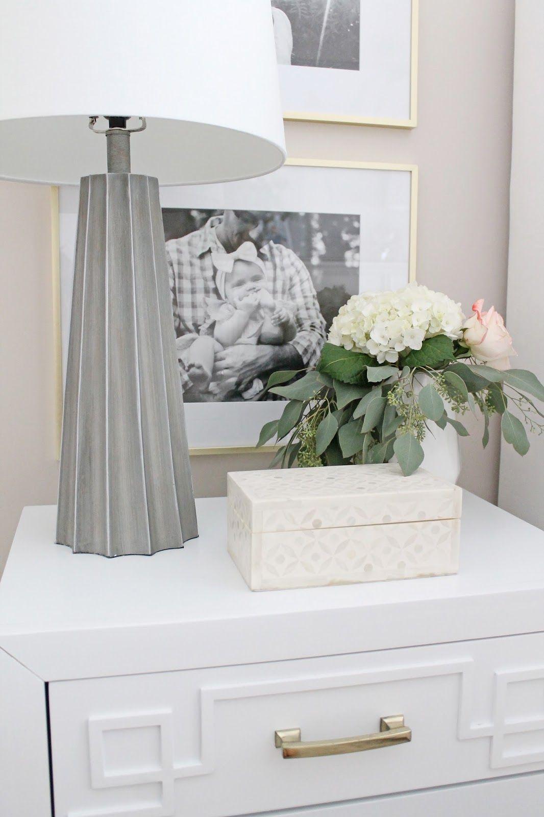 White master bedroom decor  Master Bedroom Reveal  Master bedroom Bedrooms and Gallery wall