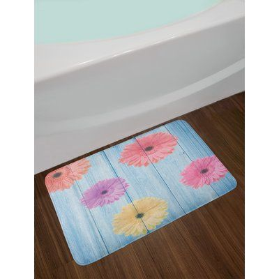 East Urban Home Calendula Multicolor Rustic Bath Rug Rustic Bath Decorative Bath Rugs