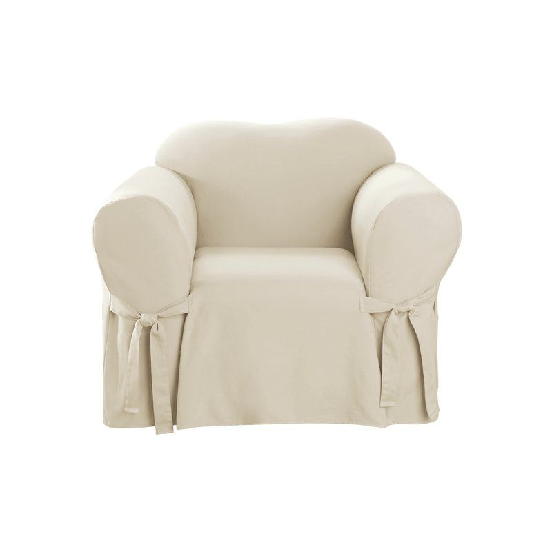 Order Online Cotton Duck Box Cushion Armchair Slipcover by ...