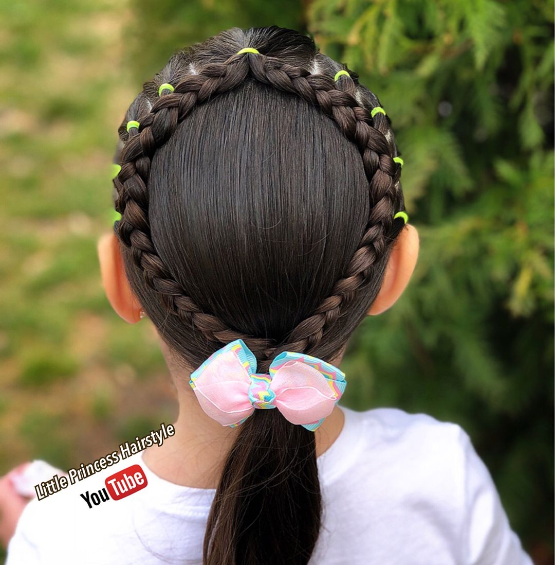Beautiful and easy hairstyle with elastics new video on my