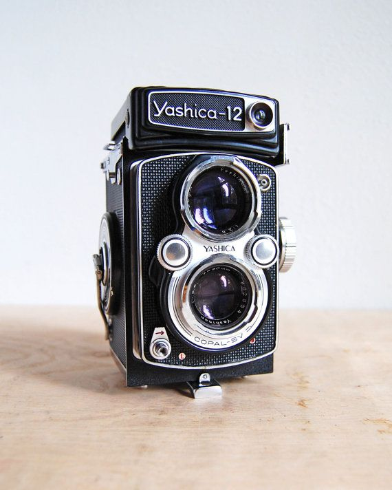 Rare Vintage Yashica 12 Twin Lens Camera - TLR 6 x 6 (120) Film Camera from 1960s on Etsy, $225.00