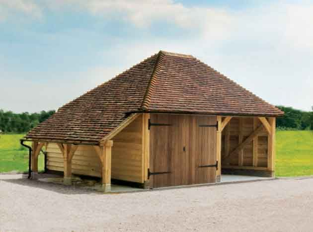 Oak designs 2 bay garage with log store second bay could for 2 bay garage plans