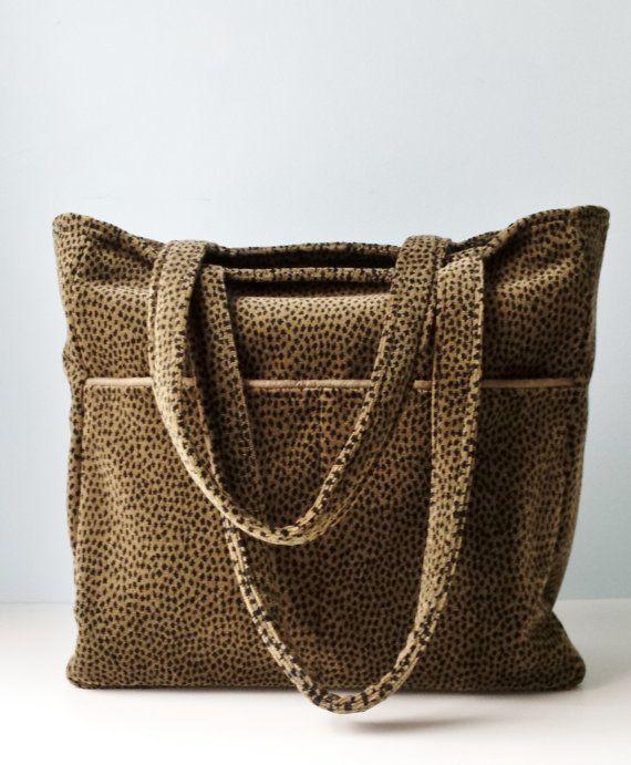 Large Travel Bag Book Bag Office Carryall Teacher Tote Animal ...